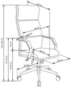 wymiar fotela CO01