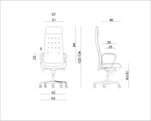 wymiar fotela UNI-AR01
